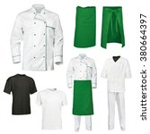 the set of white and green chef ... | Shutterstock . vector #380664397