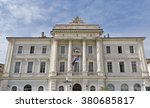 piran town hall building facade ... | Shutterstock . vector #380685817