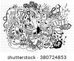 abstract music background ... | Shutterstock .eps vector #380724853