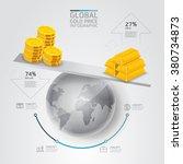 global business gold price... | Shutterstock .eps vector #380734873