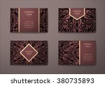 vector vintage visiting card... | Shutterstock .eps vector #380735893