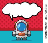 astronaut doodle  speech bubble | Shutterstock .eps vector #380736313