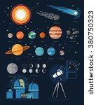large vector set of astronomy... | Shutterstock .eps vector #380750323