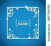 floral overlapping border  | Shutterstock .eps vector #380756593