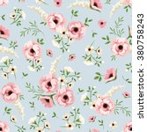 vector seamless pattern with... | Shutterstock .eps vector #380758243