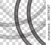 tire tracks.  vector... | Shutterstock .eps vector #380759287