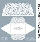 vector die cut envelope... | Shutterstock .eps vector #380764513