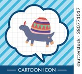 animal turtle theme elements... | Shutterstock .eps vector #380771017