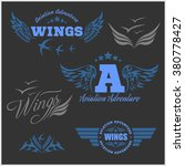 air force shields and labels... | Shutterstock .eps vector #380778427