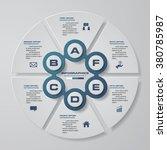 design clean workflow 6 steps... | Shutterstock .eps vector #380785987