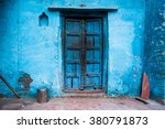 Blue Painted Traditional House...