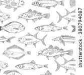 fish seamless pattern. fish... | Shutterstock .eps vector #380794087