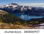 above  overlooking the glacial... | Shutterstock . vector #380800957