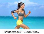 athlete running woman runner... | Shutterstock . vector #380804857