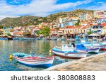 traditional colourful greek... | Shutterstock . vector #380808883