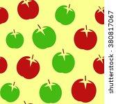 apple back pattern seamless... | Shutterstock .eps vector #380817067