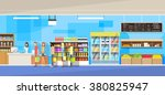 big shop super market shopping... | Shutterstock .eps vector #380825947