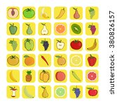 vector icons of fruits and... | Shutterstock .eps vector #380826157