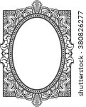 rich decorated oval frame... | Shutterstock .eps vector #380826277