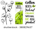set of vector hand draw cotton... | Shutterstock .eps vector #380829637