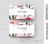 business card vector template... | Shutterstock .eps vector #380829823