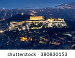 Small photo of Acropolis during the blue hour