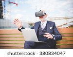 middle age caucasian business...   Shutterstock . vector #380834047