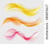 shiny waves vector set on... | Shutterstock .eps vector #380855617