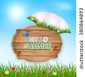 hello summer background with... | Shutterstock .eps vector #380864893