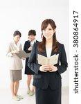 beautiful asian business women... | Shutterstock . vector #380864917