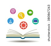 open books and icons of science | Shutterstock .eps vector #380867263