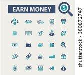 earn money icons | Shutterstock .eps vector #380872747