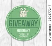 giveaway. advertising campaign...   Shutterstock .eps vector #380877247