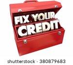 fix your credit score rating...   Shutterstock . vector #380879683