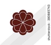 flower icon design  | Shutterstock .eps vector #380885743