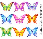 butterflies design | Shutterstock .eps vector #380888737