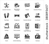 tourism   travel icons   set 5 | Shutterstock .eps vector #380893657