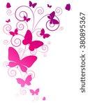 butterflies design | Shutterstock . vector #380895367