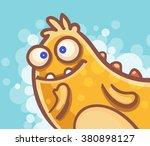 cartoon thinking monster | Shutterstock .eps vector #380898127