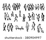 casual people sketch. outline... | Shutterstock .eps vector #380904997