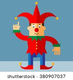 funny court jester  making... | Shutterstock .eps vector #380907037