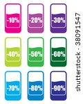 retail sale price tags for... | Shutterstock .eps vector #38091547