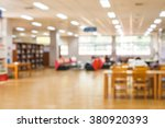 blur image of the library or... | Shutterstock . vector #380920393