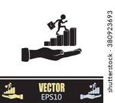 man climbs up the career ladder | Shutterstock .eps vector #380923693