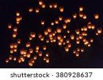 sky lanterns in lantern... | Shutterstock . vector #380928637