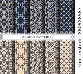 arabic vector pattern pattern...   Shutterstock .eps vector #380938987