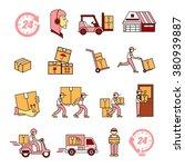 service industry including...   Shutterstock .eps vector #380939887