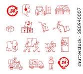 service industry including...   Shutterstock .eps vector #380940007