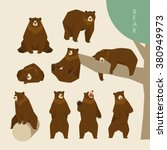 day of a brown bear | Shutterstock .eps vector #380949973