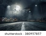 road in city at night | Shutterstock . vector #380957857